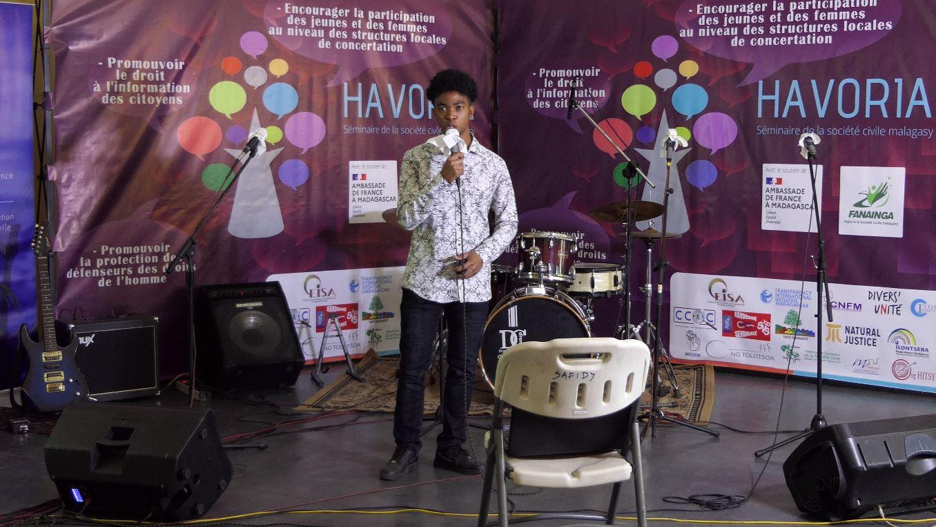 CONCOURS D'ÉLOQUENCE Darcel Ulrich lauréat de Havoria 2021